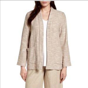 Eileen Fisher Organic Cotton/Linen Open Jacket